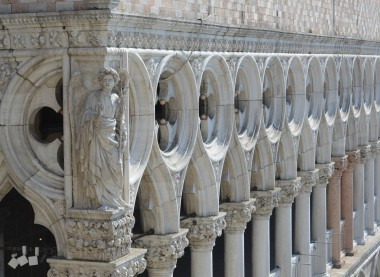 Detail of Doge's Palace in Venice