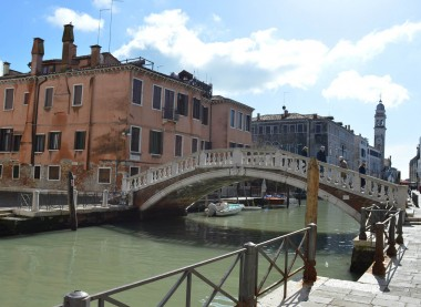 Stone bridge in Venice