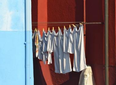 Washings hanging in Burano